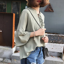 Go Girl Lace Up Blouse