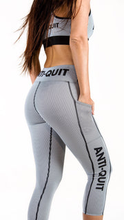 """Pin"" Anti-Quit PowerRun Capri Leggings (Womens)"