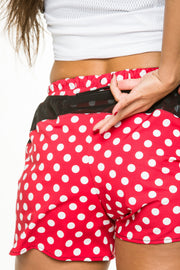 """Red Polka"" Women's StyleRun short"