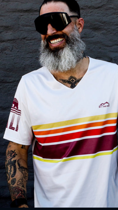 """Sand"" Performance Wide Neck Run Shirt"