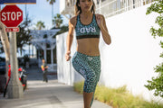 """Blue Cat"" Anti-Quit PowerRun Capri Leggings (Womens)"