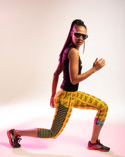"""Punk"" Anti-Quit PowerRun Capri Leggings (Womens)"