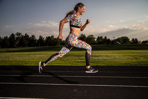 """COLORS"" REVEAL Performance Run Tights (Womens)"