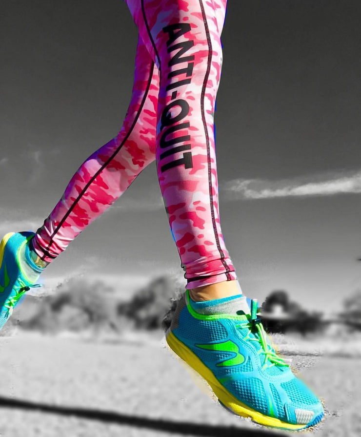 """Pink Camo"" Speed Performance Run Tights (Womens)"