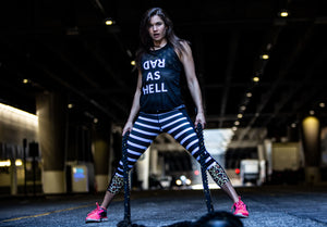 """Rad As Hell"" Run Flow Singlet black (Womens)"