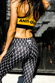 """Pirate"" Anti-Quit PowerRun Capri Leggings (Womens)"