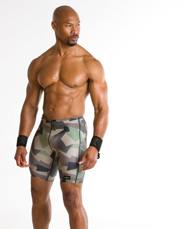 "Copy of ""Geometric Green"" Men's Performance Run Shorts"
