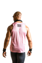 """ROSEWATER"" Performance Run Tank V-Neck (Mens)"