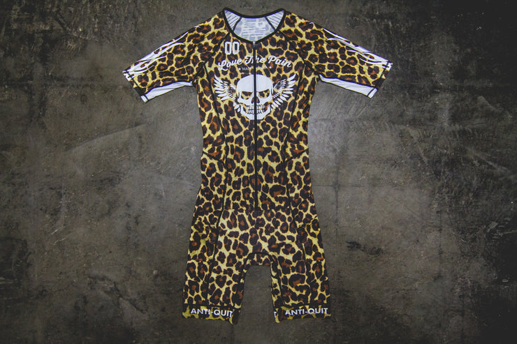 """Hot Rod Leopard"" Unzip Race Suit (Men)"