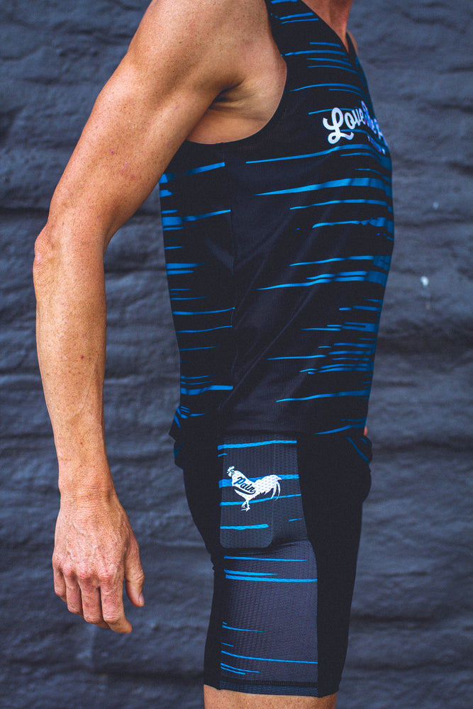 """Aqua Rooster"" Men's Performance Run Shorts"