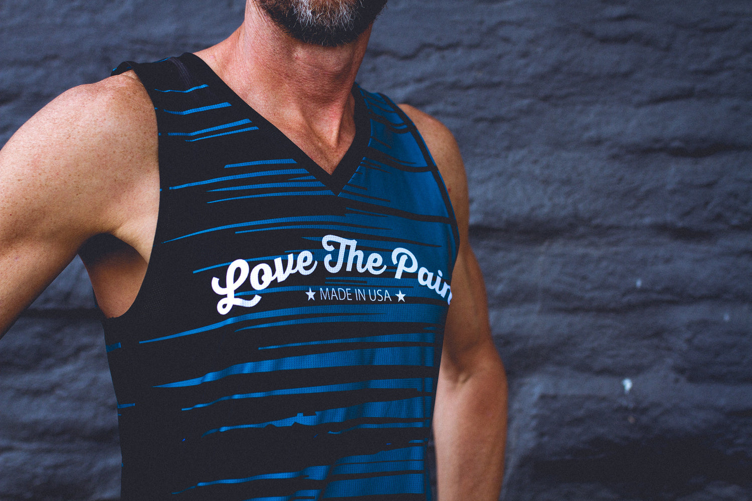"""Aqua"" Performance Run Tank V-Neck"