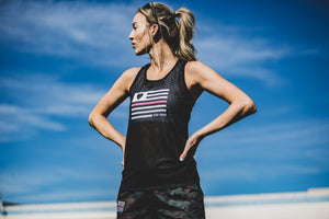 """Girl Power"" Run Flow Singlet  (Womens)"