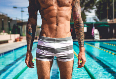 """Vintage Stripe"" Training Swim Shark Square Leg"