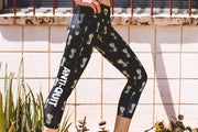 """Pineapple"" Anti-Quit PowerRun Capri Leggings (Womens)"