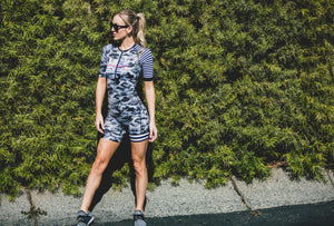 """GREY CAMO"" Tri Shorts (Women)"