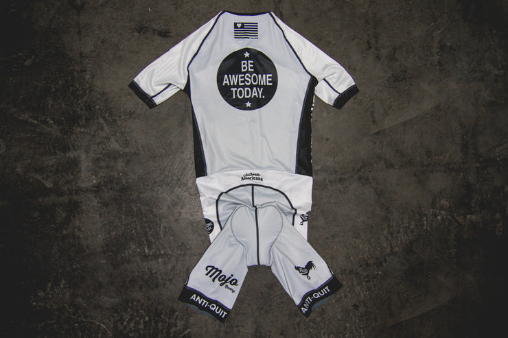 """Be Awesome Grey"" Aero Race Suit (Men)"