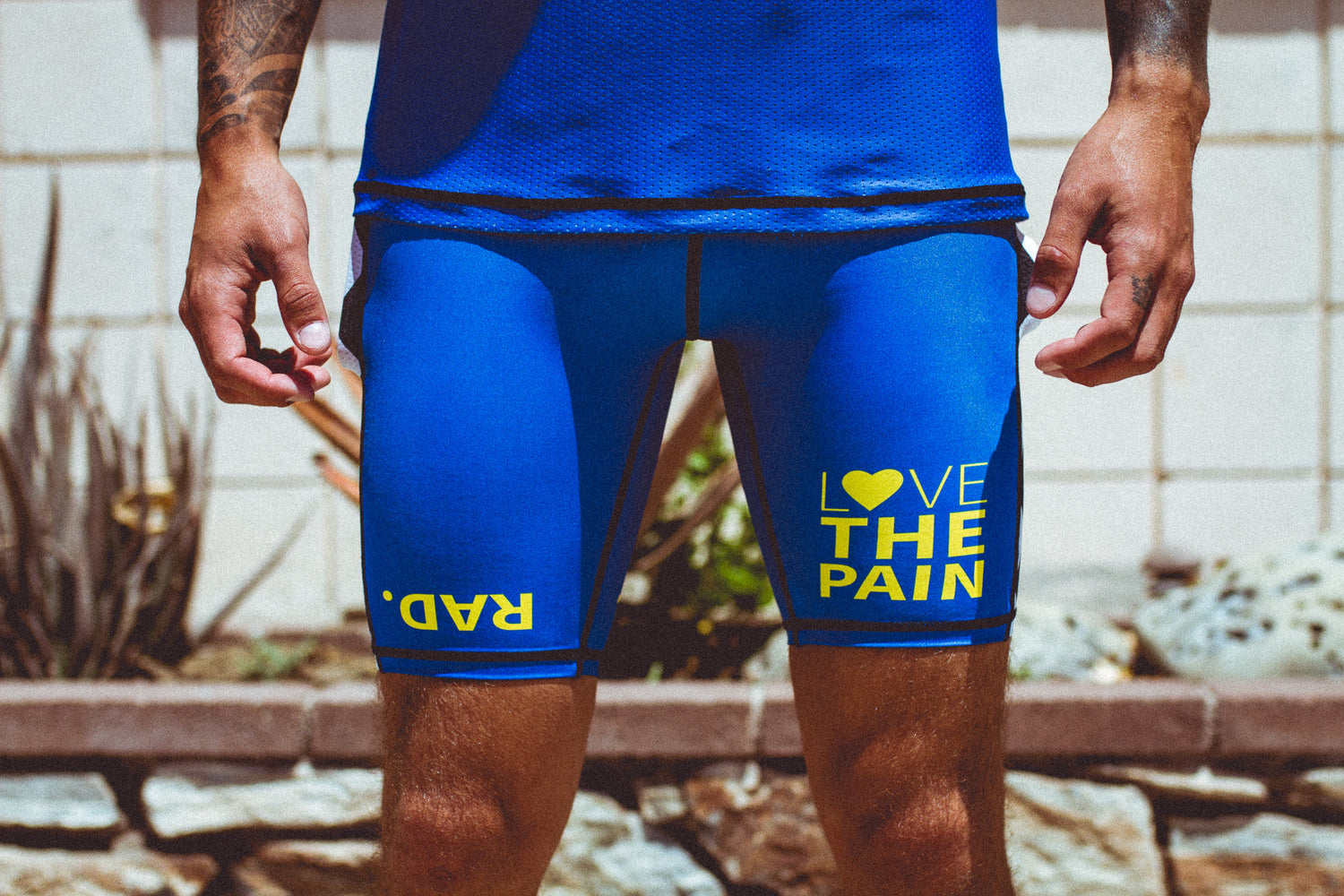 """Vintage RAD Blue"" Men's Performance Run Shorts"