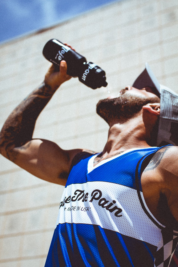 """Vintage Rad Blue"" Performance Run Tank V-Neck"