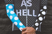 """Blue Dots"" Arm Warmers"