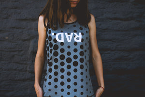 """RAD Dots"" Run Flow Singlet (Womens)"