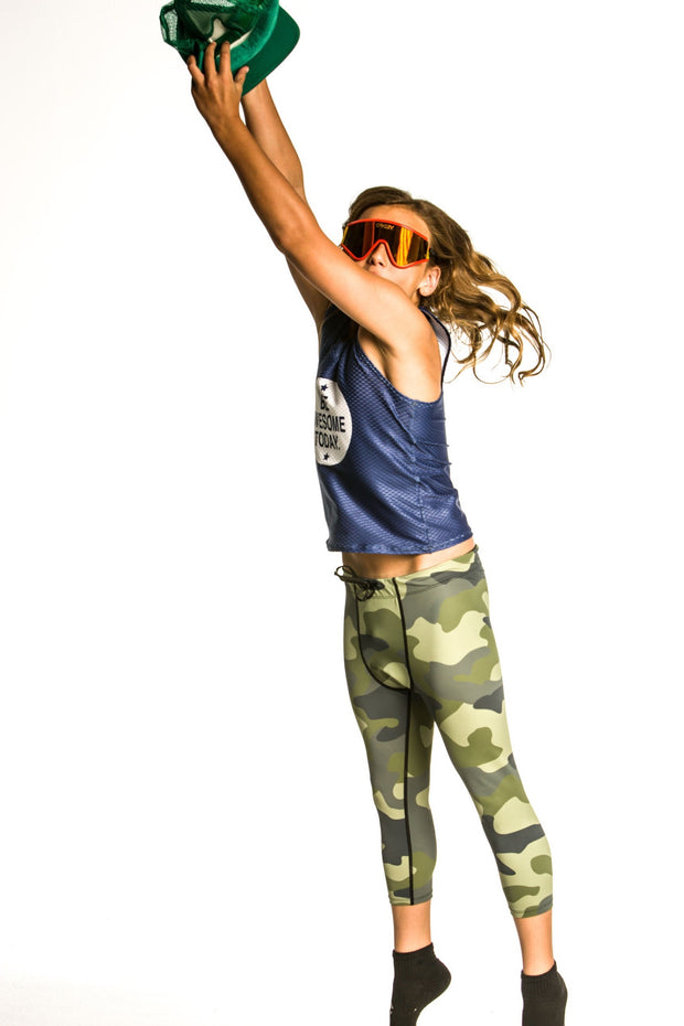 Kids Be Awesome Today Run Tank