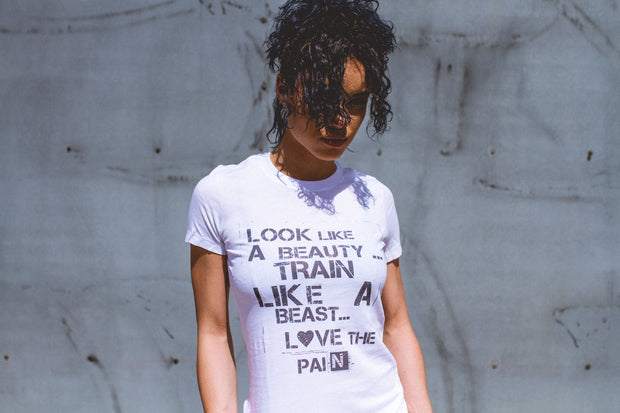 """Train Like A Beast"" Fitted Tee"