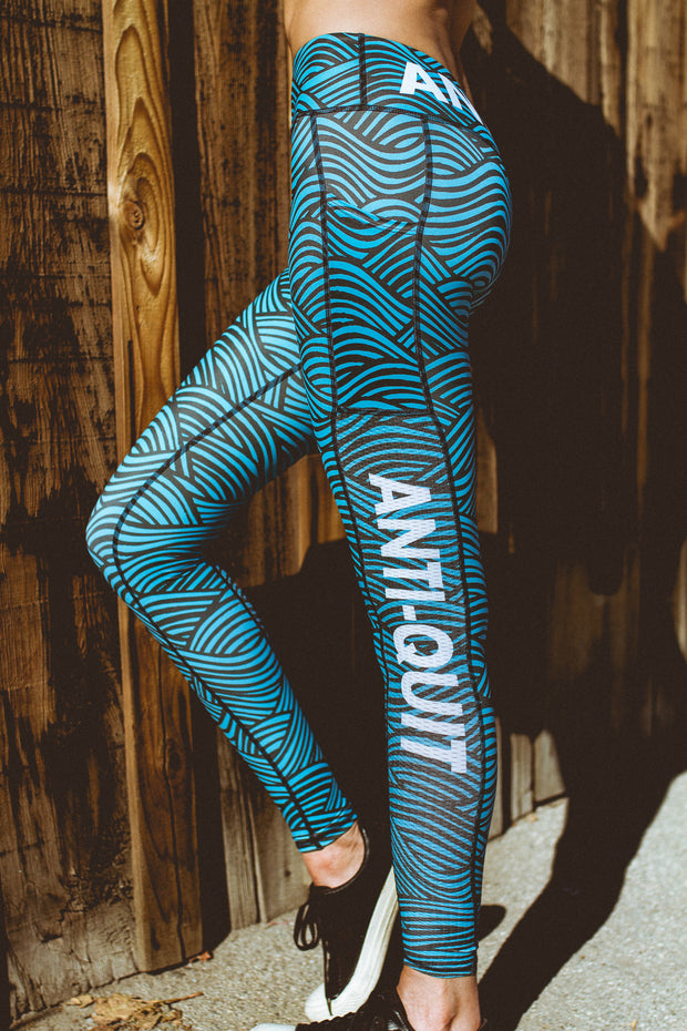 """Waves"" Speed Performance Run Tights (Womens)"