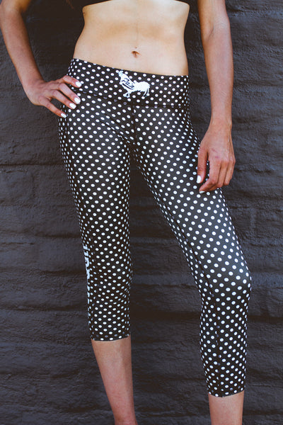 """Dots"" Anti-Quit PowerRun Capri Leggings (Womens)"
