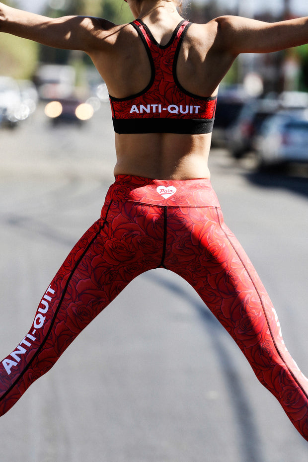 The Rose Anti-Quit PowerRun Capri Leggings (Womens)