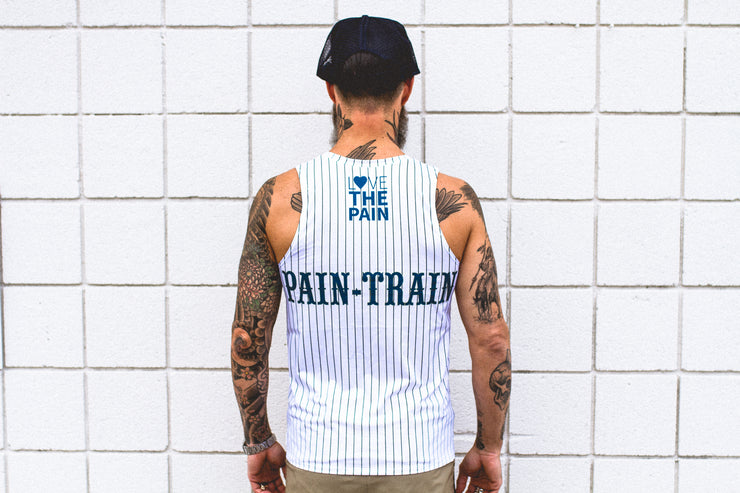 """Pain-Train"" Performance Run Tank V-Neck (Mens)"