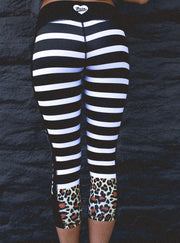 """Lil Cheetah"" Anti-Quit PowerRun Capri Leggings (Womens)"