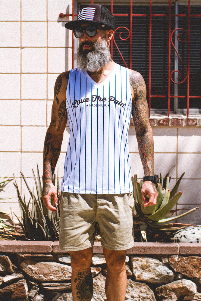 """Stripes"" Performance Run Tank V-Neck"