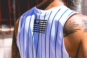 """Stripes"" Performance Run Tank V-Neck (Mens)"