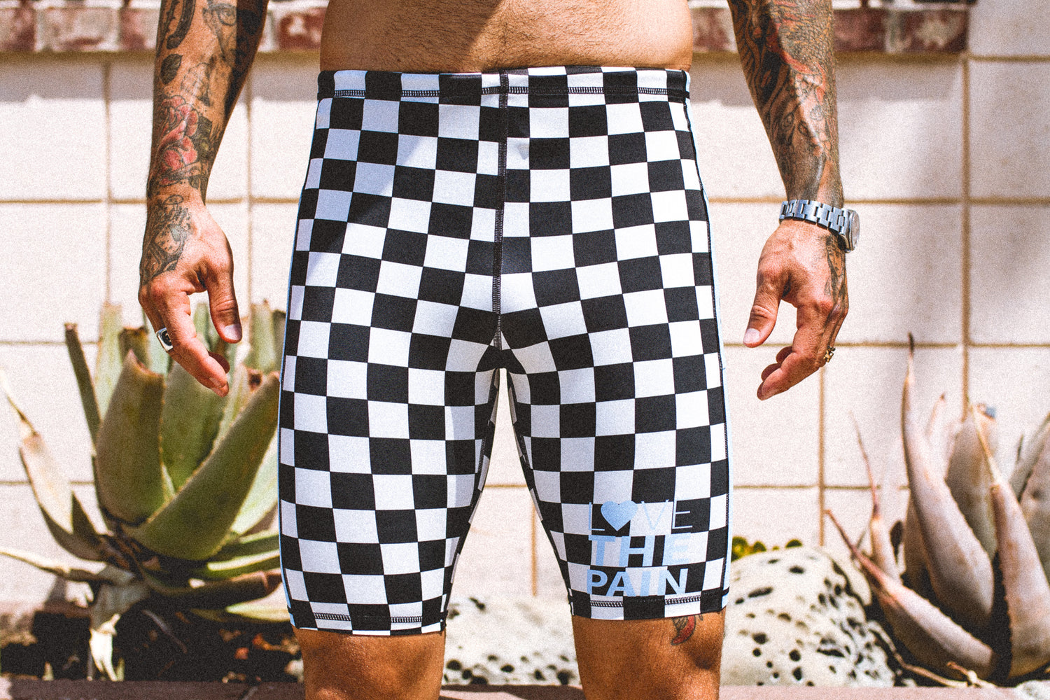 """Checkers"" Men's Performance Run Shorts"