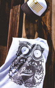 """The Owl"" Muscle Tank"