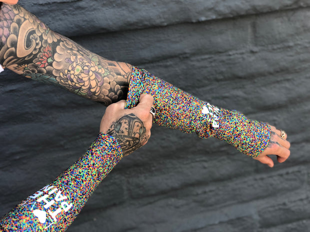"""Pixel"" Arm Warmers"