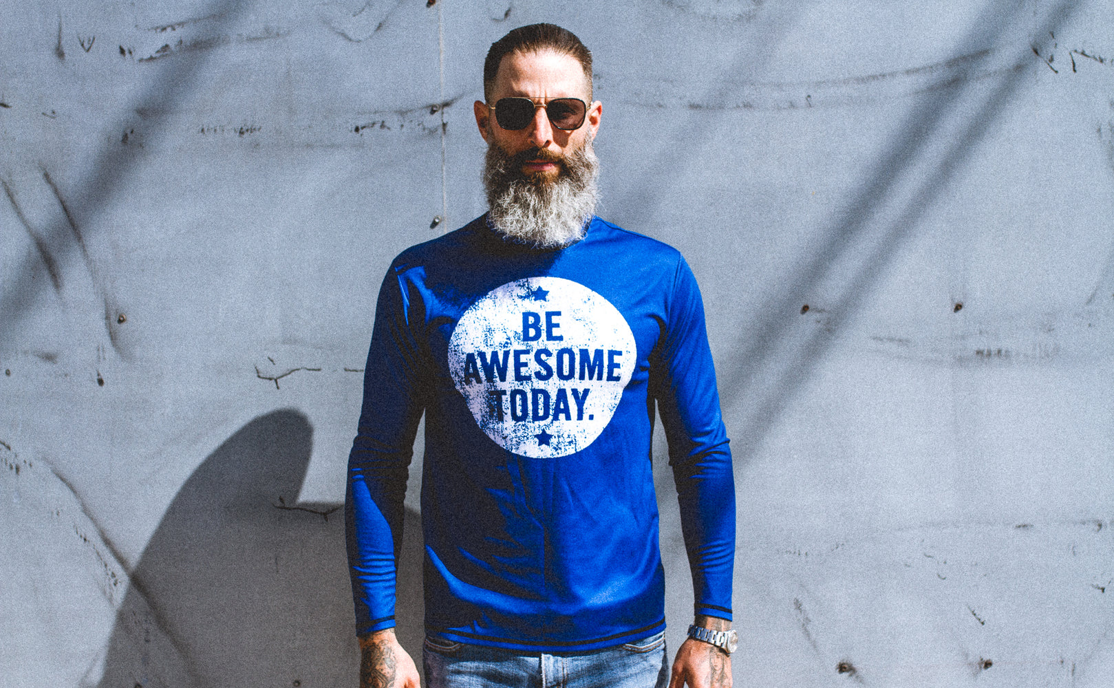 """Be Awesome"" Performance Run Shirt Long Sleeve"