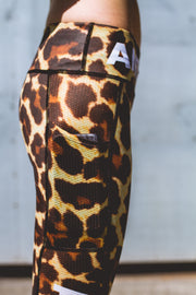 """Leopard"" Speed Performance Run Tights (Womens)"