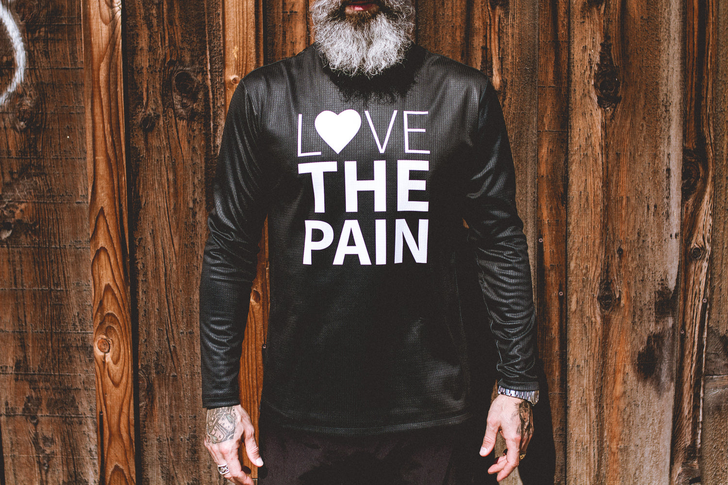 """Love The Pain"" Performance Run Shirt Long Sleeve Black"