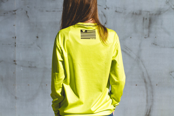 """Mojo"" Performance Run Shirt Long Sleeve Fluro Women's"
