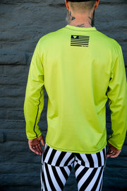 FluroLong Sleeve Tech Runner