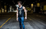 """Dominate"" Performance Run Tank V-Neck (Mens)"
