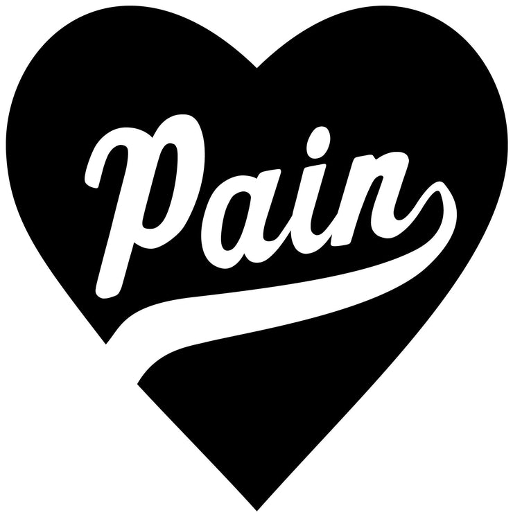 """Pain Heart"" Decal"