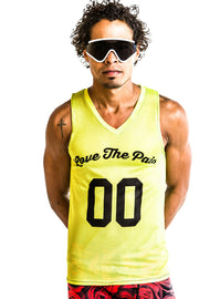 """LTP FLURO"" Performance Run Tank V-Neck (Mens)"