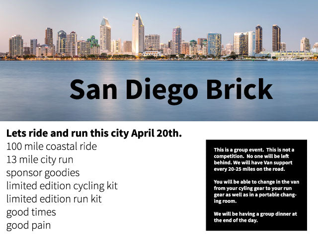 San Diego Mojo Brick Registration