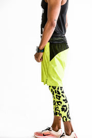 """Neon Leopard"" Dynamic Tights"