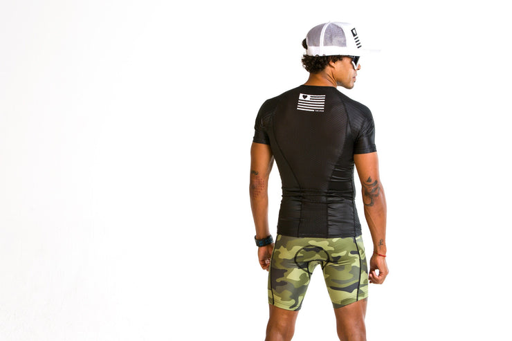 """Blackout"" vented Aero Tri Top (Men)"