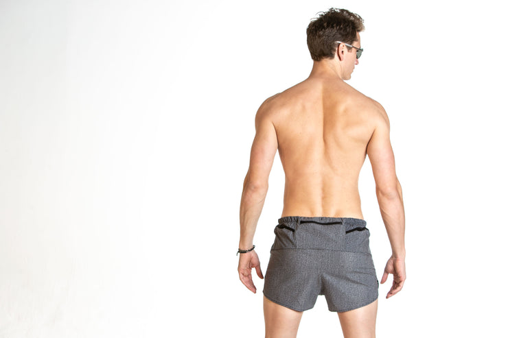 """Black Denim"" Distance5 Men's Performance Run Shorts"