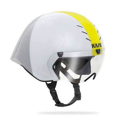 KASK MISTRAL HELMET WHITE AND SILVER