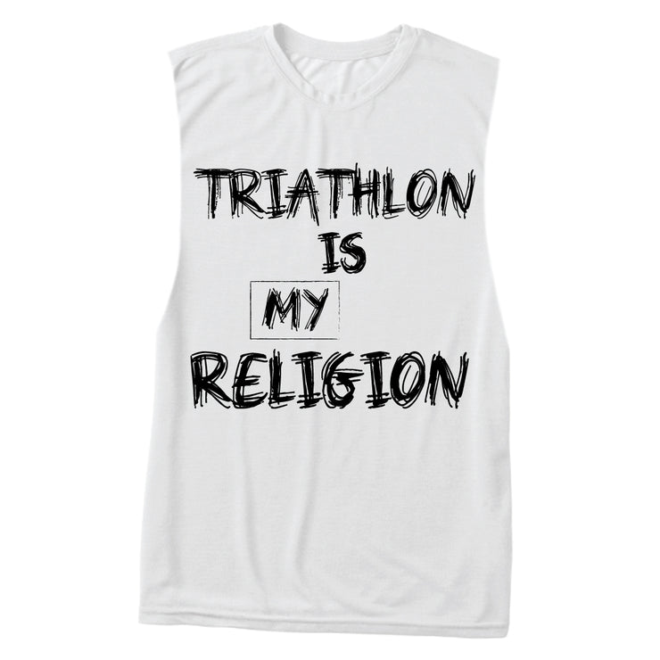 """Tri-Religion"" Muscle Tank"